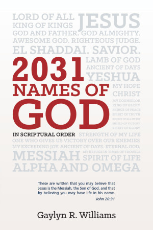 2031 Names of God: In Scriptural Order by Gaylyn R. Williams